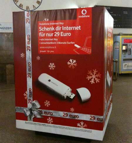 Vodafone-Werbung Bozen.