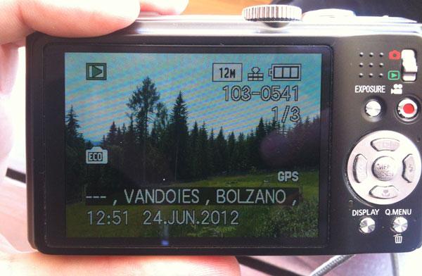 Kamera mit GPS.