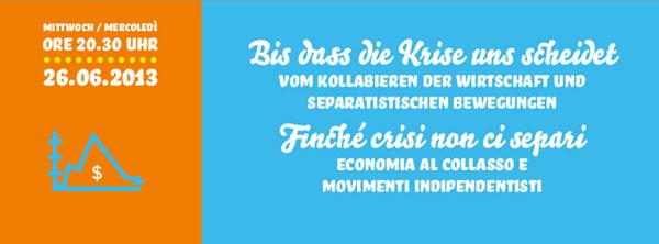 Eurac Science Café: Bis dass die Krise uns scheidet.