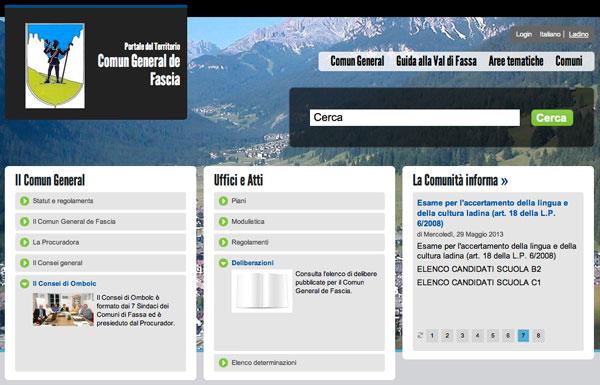 Homepage Comun General.