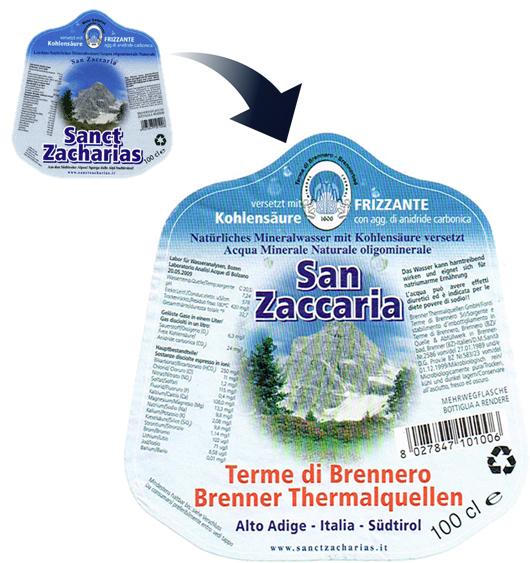 Sanct Zacharias / Etiketten.