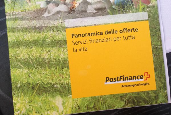 PostFinance-Prospekt.
