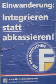 Plakat Freiheitliche.