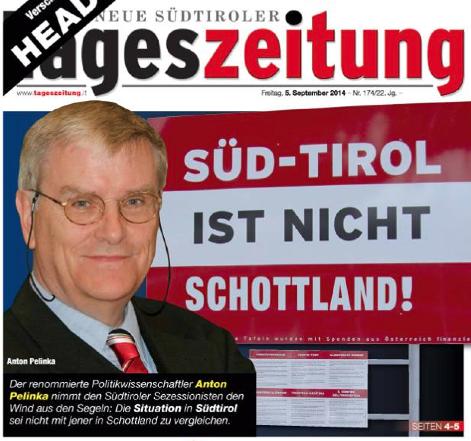 TAZ: Süd-Tirol ist nicht Schottland.