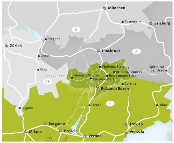 SMG: Südtirolkarte.