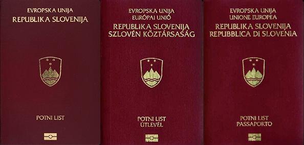 Reisepässe Slowenien.
