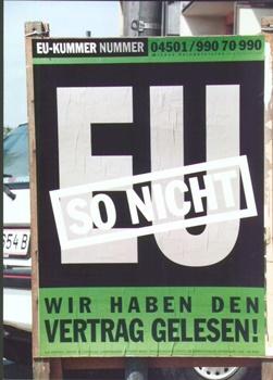 Das Wahlplakat der Grünen zur EU-Volksabstimmung 1994