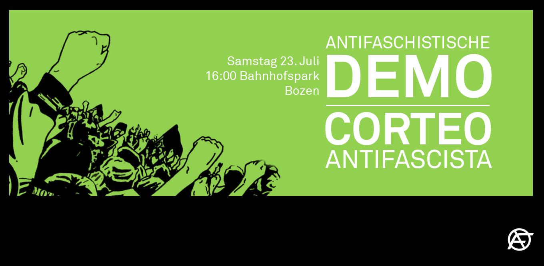 Banner der Antifa Meran.