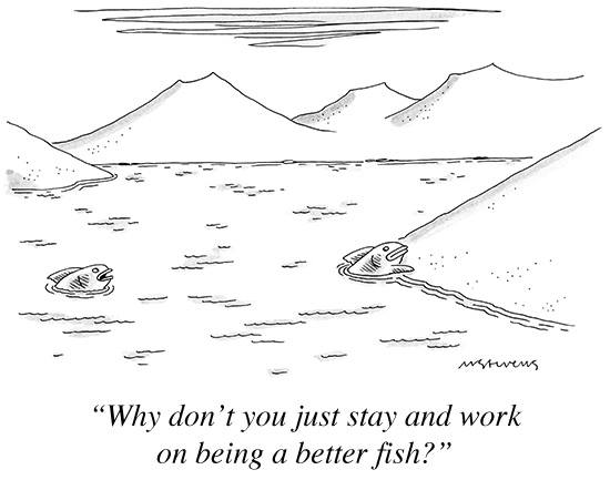A cartoon by Mick Stevens for The New Yorker